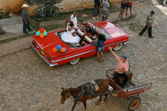 <p>Cuban Wedding - Highly Commended - Set Subject Print: Candid <small>&copy; Chris Brown</small></p>
